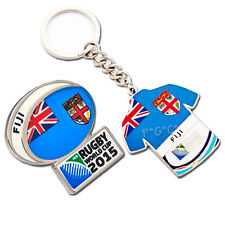 Rugby World Cup 2015 Fiji Flag Pin and Key Ring Set