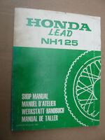 Honda NH 125_Lead_NH125_Werkstatt Handbuch_Shop Manual_Manuel D´ Atelier_Taller