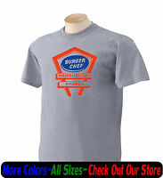 Retro BURGER CHEF Hamburgers 1960's Logo T Shirt All Size New Cotton Graphic Tee