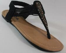 NEW Girls Youth SODA JESSICA Black Flats Fashion Sandals  Casual Dress Shoes