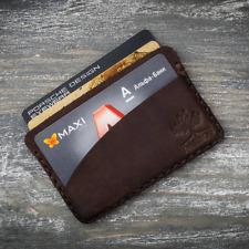 Card leather brown money city travel mini men business holder wallet
