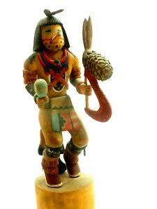 "Fine Hopi Mountain Lion Kachina '89 Edwin Myers 9.75"""