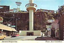 OREGON CITY OREGON ELEVATOR~KEN VERMILLION PHOTO POSTCARD c1960s