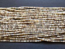 Light Kabibi Shell Heishi Beads  (4 - 5 mm / 24 Inches)