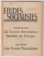 Etudes Socialistes Aout 1947 Tchakhotine Contre révolution fasciste -  Jean Rous