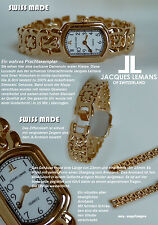 Jacques Lemans Orologio donna 18 vergoldt Swiss Made Quadrante ROMANO I-II-III