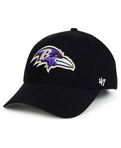 BALTIMORE RAVENS NFL '47 BRAND MVP STRAPBACK ADJUSTABLE BLACK HAT CAP