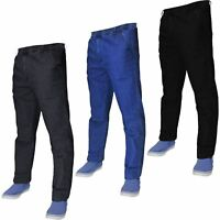New Mens Denim Stretch Jeans Elasticated Waist Work Wear Comfort Casual Pants