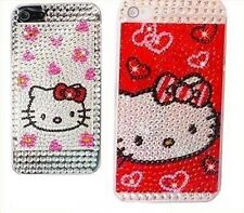 Cover CUSTODIA per IPHONE 5 5S SE HELLO KITTY DIAMANTI BRILLANTINI DIAMOND