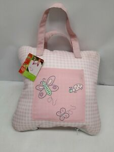 Picnic Blankets Waterproof Outdoor Blanket plaid Butterflies 50L 50 in W pink