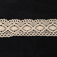 """1 Y Natural Color Cotton Crochet Cluny Double Scalloped Trim 1 7/8"""" US SHIPPER"""