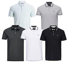 Jack & Jones Premium Men Cotton Polo Shirt Short Sleeve Casual Pique T-shirt Top