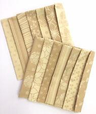 Neutral Tonal Fabrics 14 Pcs Fat Quarter Bundle by Marcus Beige Tans 18x22 16695