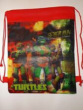 TMNT Ninja Turtles Tote Reusable Shopping Toy Bag Draw String Red 14013312