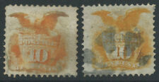 More details for usa 1869 sg118/a 10c dp orange orange-yellow - grill both shades good used c£280