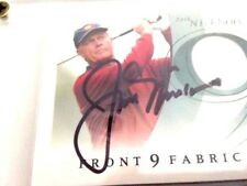 """AWESOME! COLLECTIBLE! FLAIR """"JACK NICKLAUS"""" GAME USED"""" FABRIC CARD!!"""