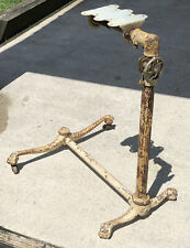 Antique Victorian Medical Cast Iron Side Table Drafting Cast Iron Adjustable VTG