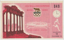 1960 Rome Olympic Games Original Ticket Stub Track & Field Class III #049