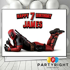 Personalised Deadpool Birthday / Any Greetings Card A5 Your Name S3