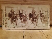 Antique Stereoscope Stereo Photo Cards 1899 Military Sadness in Victory Death