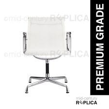 PREMIUM EAMES REPLICA ALUMINIUM OFFICE SIDE CHAIR -MESH-WHITE RRP$725