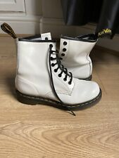 Dr Martens Womens Uk 4 White Patent Leather Vgc