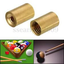 Pool Snooker Billiard Cue Tip Ferrules Brass 10mm Screw on Tips Replacement Tool