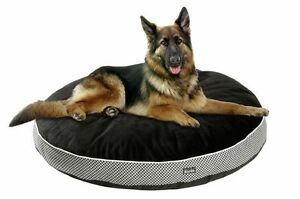 karlie Pepita Luxary Pet Dog Bed cushion ex small to ex large Oval Black white