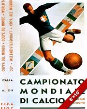FIFA WORLD CUP 1934 SOCCER ITALY POSTER PAINTING ART GICLEE REAL CANVAS PRINT