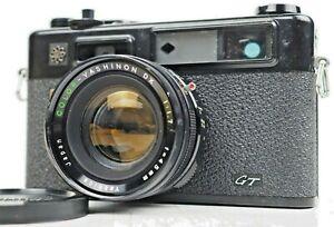 {Exc+++++} YASHICA Electro 35 GT Black 35mm Film Rangefinder Camera From JAPAN