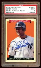 DEREK JETER 2008 GOUDEY AUTO SUPER SP ! SPORTS ROYALTY  CARD IS RARE NOT LISTED