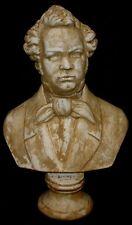 Antique Reproduction Bust of Franz Schubert Music Classic Sculpture Statue
