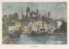 Rapperswil Rapperschwyl Gesamtansicht Holzstich ca. 1880