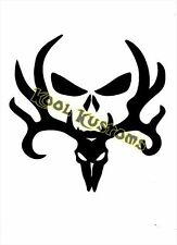 VINYL DECAL STICKER DEER SKULL BONES...HUNTER...CAR TRUCK WINDOW
