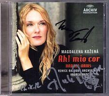 Magdalena KOZENA Andrea MARCON Signed HANDEL ARIAS Ah! mio cor CD Alcina Orlando