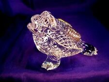 FSH096 Feng Shui 3 Legged Money Frog/Toad with Gold Coin CRYSTAL