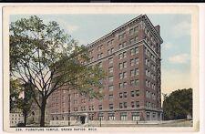 Furniture Temple Grand Rapids MI Michigan Mich  Postcard
