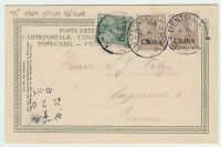 CHINA 1901 Cover Postcard PEKING TIENTSIN GERMAN POST to Bremen Germany