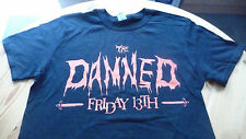 THE DAMNED Friday the 13th T-Shirt Size Large.New.Punk,Rock,Goth,Horror,Adverts