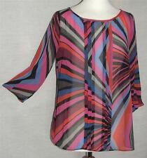 3/4 Sleeve Geometric Tunic, Kaftan Tops & Shirts for Women