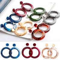 1 Pair Women Hoop Earrings Acrylic Circle Lady Girl Simple Earring Jewelry Gifts