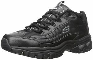 Skechers Mens Energy-After Burn Low Top Lace Up Running, Black, Size 11.0 Ru9z