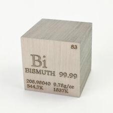 Wismut Metall 25.4mm Würfel 99.99% Markiert Periodensystem Elementesammlung