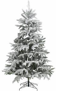 Künstlicher Weihnachtsbaum beschneit verschiedene Größen mit Metallständer