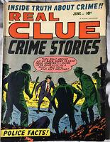 Hillman Publications Real Clue Crime Stories #4 Fine 1951 Golden Age!!
