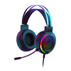 Gaming Headset With Mic RGB Backlit for Xbox One, PS4, Nintendo Switch & PC Mac