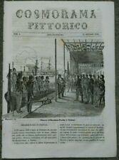 1846 COSMORAMA: IBRAHIM PACHA A TOLONE; CONTADINA CAMPAGNA ROMANA; TUNNEL A BUDA