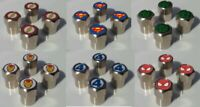 SUPERHERO CARTOON COMIC LOGO TYRE VALVE CAPS FOR TIRE WHEEL TRIM VARIOUS STYLES