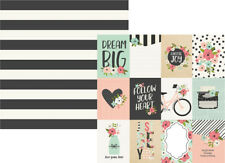 Simple Stories BLOOM Collection 12x12 double sided paper/3x4 elements #10053