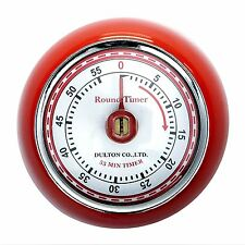 Dulton Kitchen Timer Magnetic 50s Rockabilly PinUp Vintage Round Bright Red